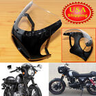 7' ' Motorcycle Gloss Black FOR Cafe Racer Headlight Fairing Screen Windshield