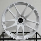 4 New 17 Vors TR4 Wheels 17x8 5x1143 35 White Rims