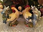 Large Vintage Ceramic Chantecler Rooster Chicken Salt and Pepper Shakers