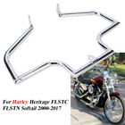 Engine Guard Crash Bar Highway For Harley Heritage FLSTC Softail Fat Boy FLSTF