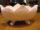Jeannette Shell Pink Milk Glass Footed Lombardi Centerpiece Bowl 1950s