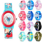 Waterproof Kids Cartoon Silicone Watch For Little Boy Girl Toddler Birthday Gift