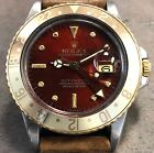 ROLEX GMT MASTER 16753 18K YG/STEEL FALL RED NIPPLE DIAL & ROOT BEER BEZEL W/BOX