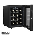 Wine Cooler Magic Chef Fits 12-Bottle w/ Quiet Thermoelectric Cooling Technology
