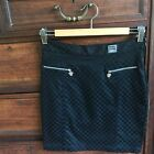 Vintage Versace Jeans Couture Medusa Black Checkered Skirt Size 8 Italian 44