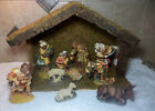 VINTAGE 1992 HAMILTON GIFTS NATIVITY SET 11 PC THAT INCLUDES MANGER STABLE