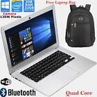 14 Inch Laptop Quad Core 2GB eMMC 2GB Intel Windows 10 Notebook Tablet + Bag LOT