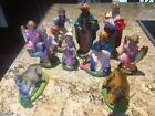 Vintage 10 Pcs Nativity Set Made in Italy Composition 75 creche paper mache