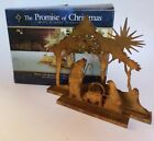 The Promise of Christmas Deluxe Nativity by Robert Stanley Metal 2 Piece Set