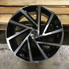 17 VORTEX STYLE BLACK WHEELS RIMS FITS VW VOLKSWAGEN RABBIT EOS SPORTWAGEN TDI