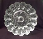 Brockway Glass Concord Deviled Egg Plate Dish Crystal