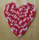 Primitive Valentines Day Crochet Red Heart Dish Rag Bowl Fillers Ornies