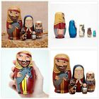 5pc Nesting Doll Holy Family Nativity Figurines Set of 5 Dolls from 55 Tall