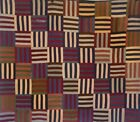 Hand Quilted Reversible Square Striped Quilt