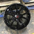 18 2018 FK8 CIVIC TYPE R STYLE GLOSS BLACK WHEELS RIMS FITS HONDA CIVIC EX SI