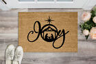 Joy Christmas Nativity Scene Floor Welcome Mat 18 x 30