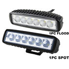 2x 6led 18w Work Light Bar Drl Driving Fog Spot Lamp For Offroad Car Truck 6500k