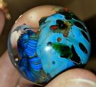 Incredible Josh Simpson Signed Blown Art Glass Marble Paperweight 1 5 8