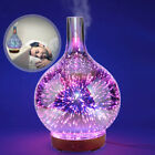 3D Glass Firework Colorful LED Aromatherapy Essential Oil Diffuser Humidifier US