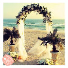 75 Feet White Metal Arch for Wedding Party Decoration Free  Fast Shipping