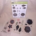 Stampin Up FLOWER PATCH stamp set BLOOMS ROSE LEAVES NATURE BOUQUET GARDEN