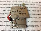 SNOOPY & WOODSTOCK CHRISTMAS ORNAMENTS HALLMARK METAL NEW W/TAG FRIEND