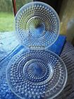 's Moonstone White Opalescent 8 ½ inch plates MINT (2) DEPRESSION