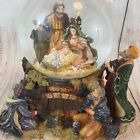 X Large Nativity Scene Three Kings Sheep Christmas Jesus 9 Tall Snow Globe