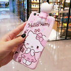 Cute Hello Kitty Strap Tassel Pendant Soft Case Cover for Apple iPhone 8 Plus