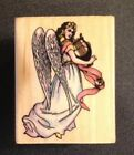 All Night Media Victorian Angel Rubber Stamp 636E