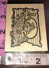 Wildflower seed bag B2 the cottage Stamperwooden rubber stamp