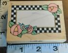 Checkerboard frame B3 all night mediawooden rubber stamp