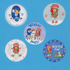 15 Strawberry Shortcake Winter Large Stickers Party Favors