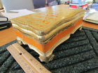 ITALIAN FLORENTINE GILT WOOD BOX ~ made in Italy