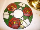 vintage stained glass green, white and red wreath- for crafts