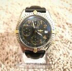 BREITLING Mens 1884 Two Tone 18k Gold Swiss Automatic Chronograph 100m Watch