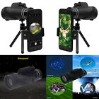 HD Monocular Starscope Telescope Phone Camera Zoom Lense Tripod Bag Phone Mount