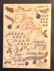 Rubber Stampede Christmas Background Rubber Stamp A2150R