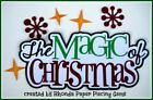 MAGIC OF CHRISTMAS title paper piecing Premade Scrapbook Pages album by Rhonda