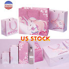 Unicorn Paper Gift Bag With Handle Present Wrapper For Childrens Birthday Gifts