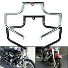 Mustache Engine Guard Highway Crash Bar For Harley Heritage Softail Fatboy FLST