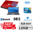 Cheap Red Dell Laptop Windows 10 DVD Core 2 Duo 4GB Ram WIFI DVD 141 LCD BC