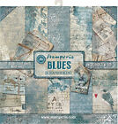 Stamperia Double Sided Paper Pad 12X12 10 Pkg Blues 10 Designs 1 Each