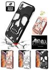 Phone Case For Apple iPhone XS Max Hybrid Dual Layer Rubber Skull Skeleton Cover