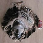 Old Rare Large African Dan Deangle Chief Ceremonial Tribal Mask Liberia Africa