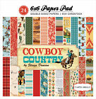 Carta Bella Double Sided Paper Pad 6X6 24 Pkg Cowboy Country 12 Designs 2 Eac