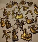 Lot of 23 Vintage brass hanging ornaments