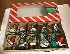 Vintage Set 10 Montgomery Ward Clip On Christmas Tree Candle Lights From Italy