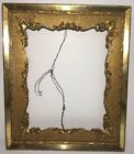 Antique Ornate Victorian 19th Century 16x20 Gold Gilded Picture Frame