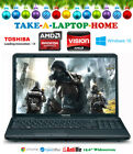 BIG Toshiba Gaming Laptop 156 AMD Radeon HD 6310 Graphics Windows10 Office DVD